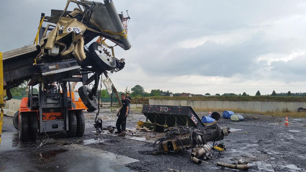 prueba de choque de K12 road-blocker, Munster, Alemania
