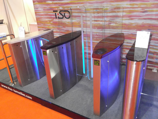 Freeway turnstiles, Intersec 2013 show