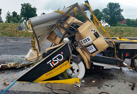 Successful crash-test of M50 (K12) road blocker