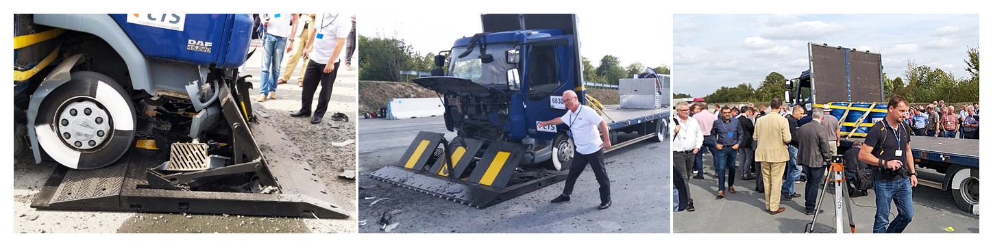 crash test du M30 mobile speedbump
