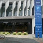 High security road blocker, The headquarters of BBVA, Madrid, Spain;