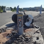 Successful crash-test of M50 high security automatic bollards, Munster, Germany