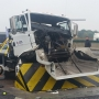 Successful crash-test of M30 high security road blocker, Munster, Germany