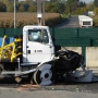 Successful crash-test of M30 High security bollard, Munster, Germany
