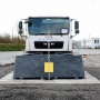 Crash-test of PAS68/IWA14-1 Ultra shallow Road blocker (7,5t@80kph)
