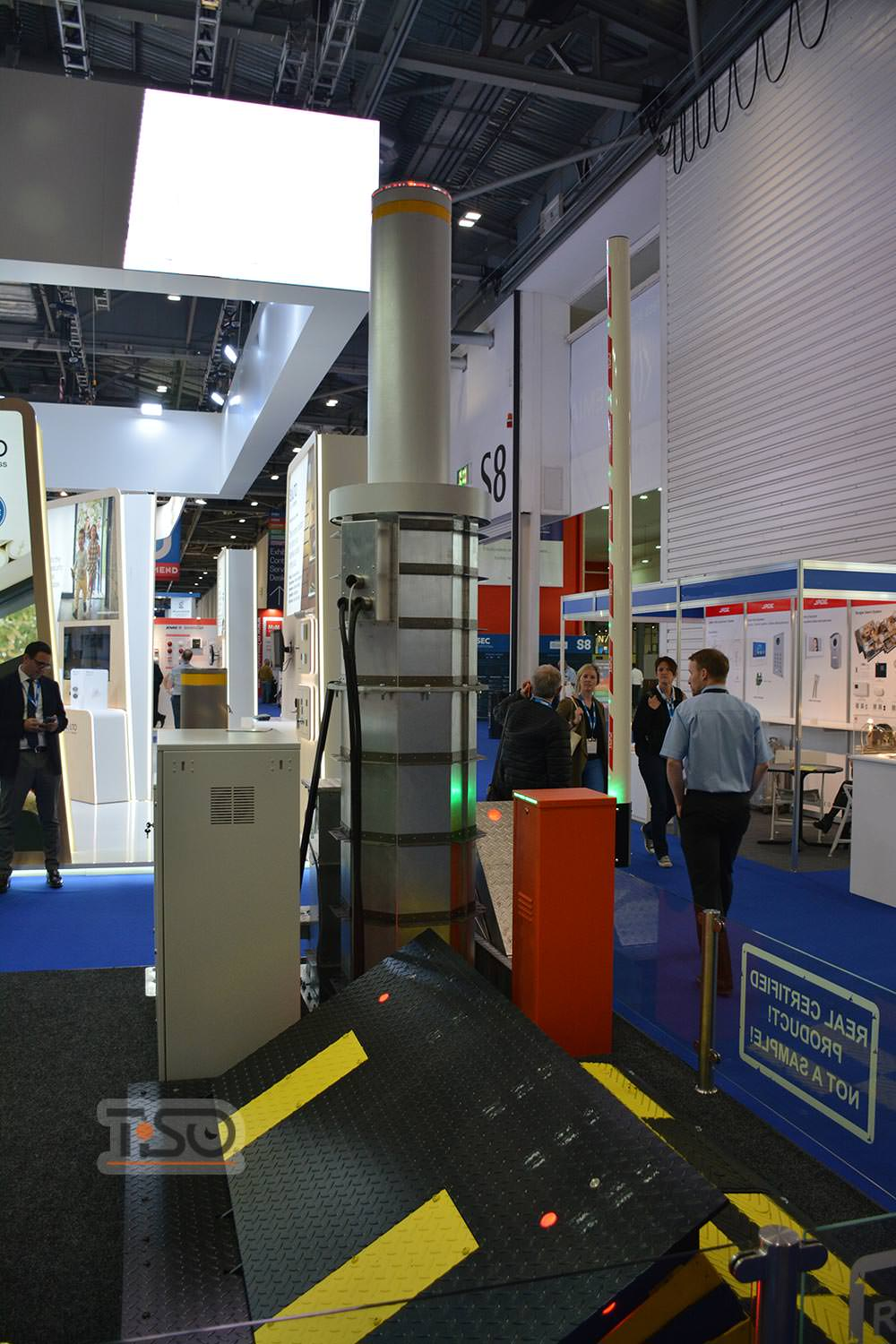 High security automatic bollards, IFSEC 2018