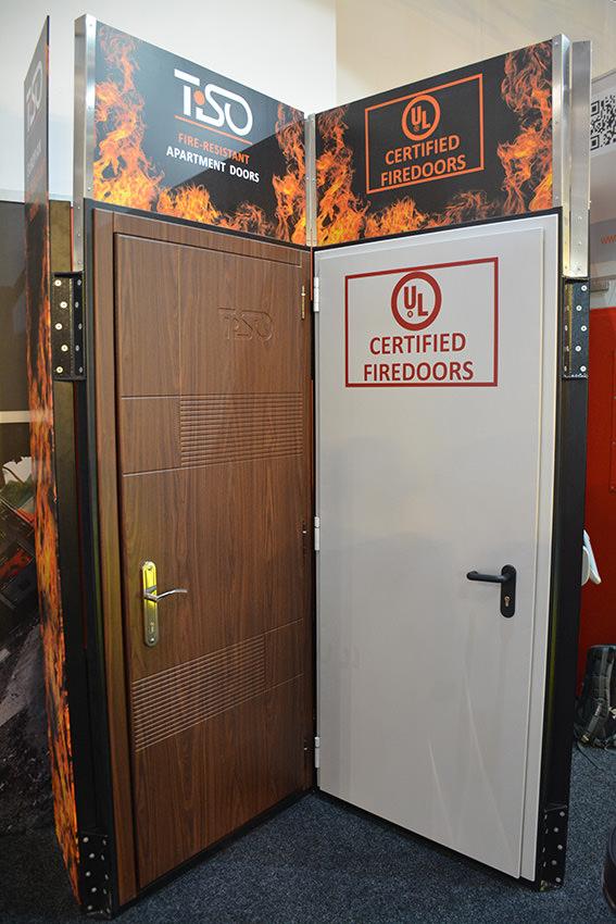UL المدرجة 60 دقائق أبواب النار المعدنية ، INTERSEC-2017
