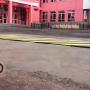 اجراءات أمنية مشددة SpeedBump ، طشقند ، أوزبكستان