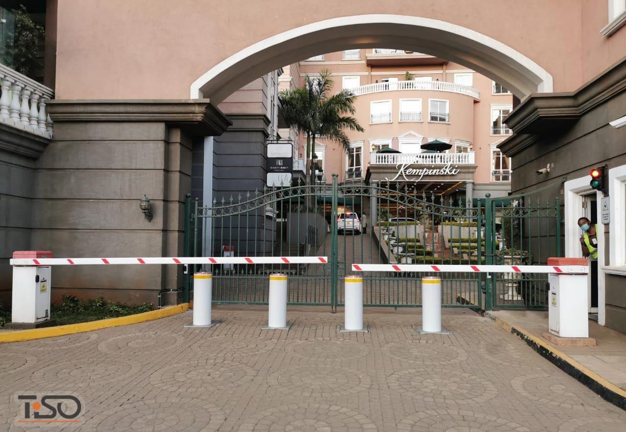 Bornes automatiques de circulation RB349-15, Hotel Villa Rosa Kempinski, Nairobi, Kenya