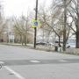 Dissuasori automatici di traffico, isola di Trukhaniv, Kiev, Ucraina