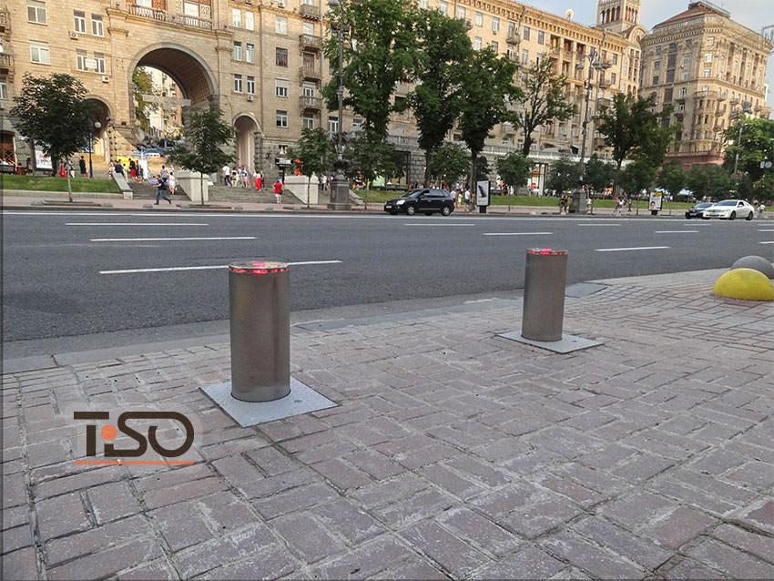 Bolardos hidráulicos de tráfico, administración estatal de la ciudad de Kiev
