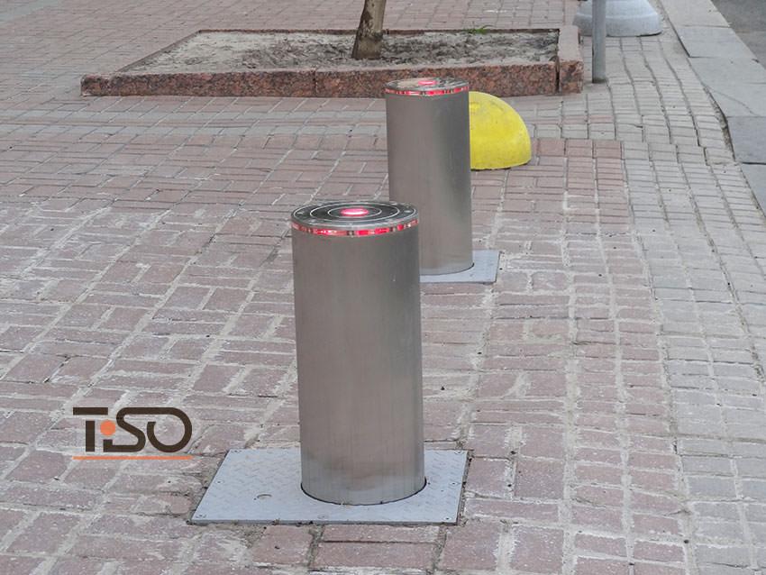 Bolardos hidráulicos de tráfico, administración de la ciudad de Kiev, Ucrania