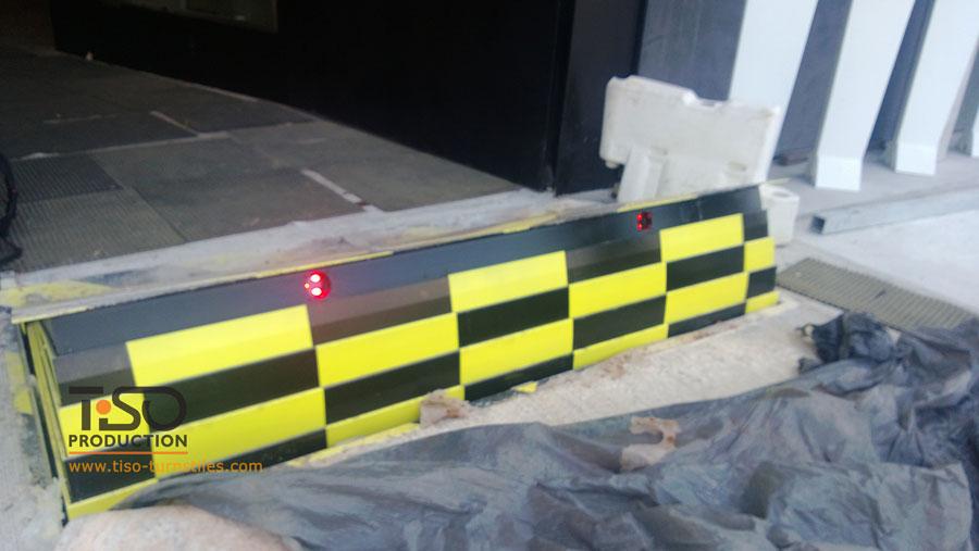 Road blocker, la sede di BBVA, in Spagna
